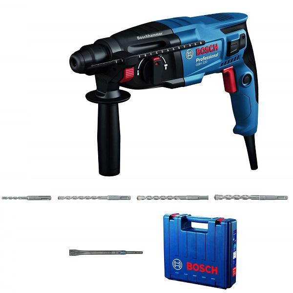 GBH 220 Rotary Hammer Drill Machine- Kit