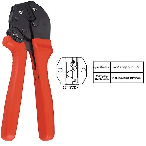 GT-7708 Non Insulated Crimping Tool 0.5 MM2 - 10 MM2