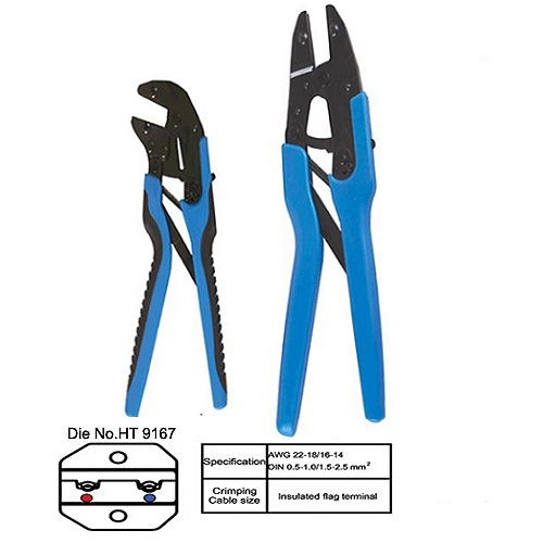 HT-9167 Insulated Flag Terminal (FLDNY) Crimping Tool 1.50-2.50 MM2
