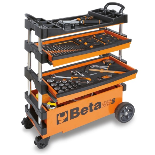 C27S Folding Tool Trolley for Outdoor Jobs