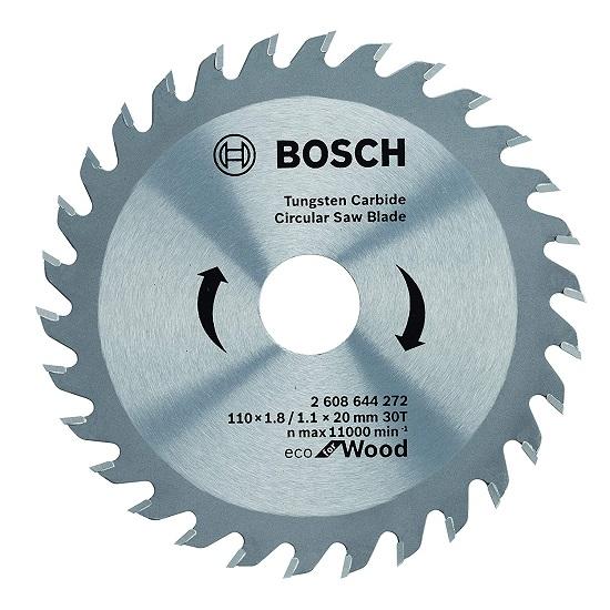 2608644272 TCT Wood Circular Saw Blade, Eco Series (110 x 20, 30 Teeth)