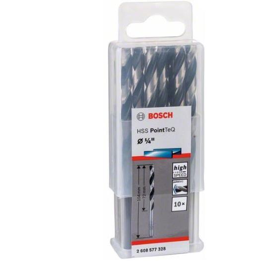 HSS Twist Drill Bit PointTeQ 1/4 Inch (10 Pack)