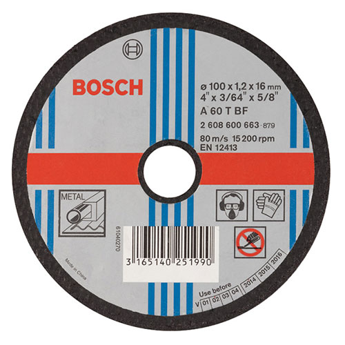 Straight Cutting Disc - Metal Specification 100 mm 16 00 mm 2 5 mm
