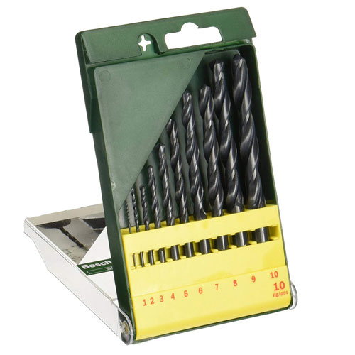 10-piece HSS-R Metal Drill Bit Set