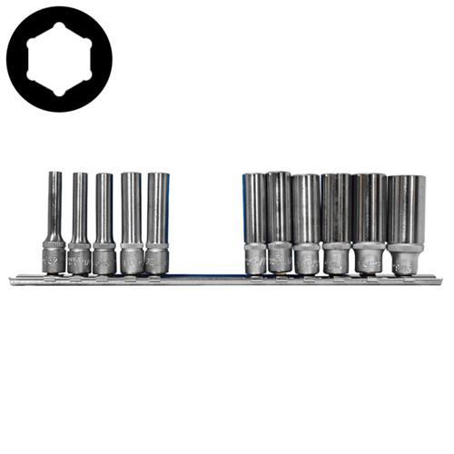 11pc 1/4 Inch 6pt. Deep Socket Set (SAE)