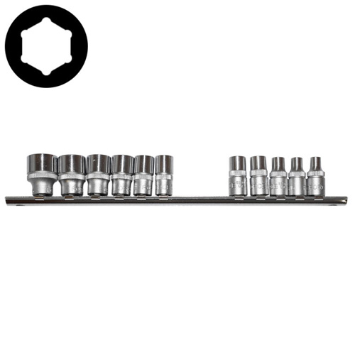 11pc 1/4 Inch 6pt. Socket Set (SAE)