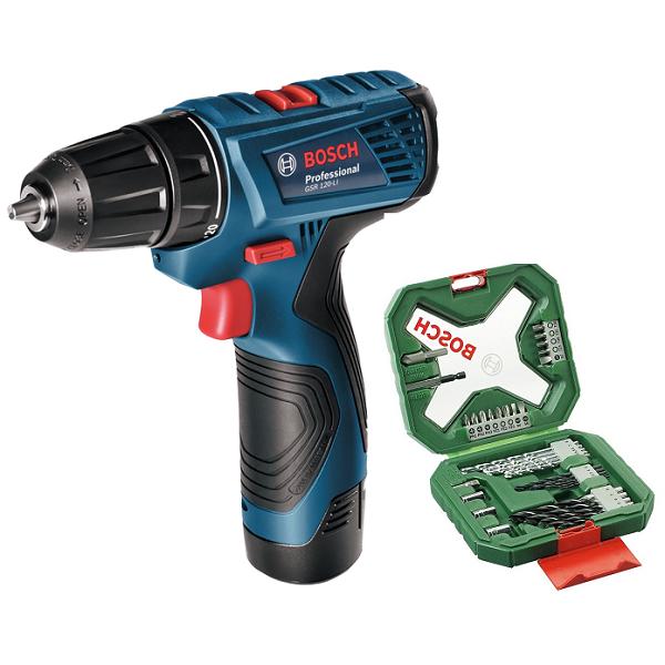 GSR120-Li Cordless Drill Driver With X-Line 38 Pc Kit