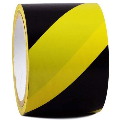 Vinyl Floor Marking Tape 3 inch/72 mmx 30metres - Yellow and Black