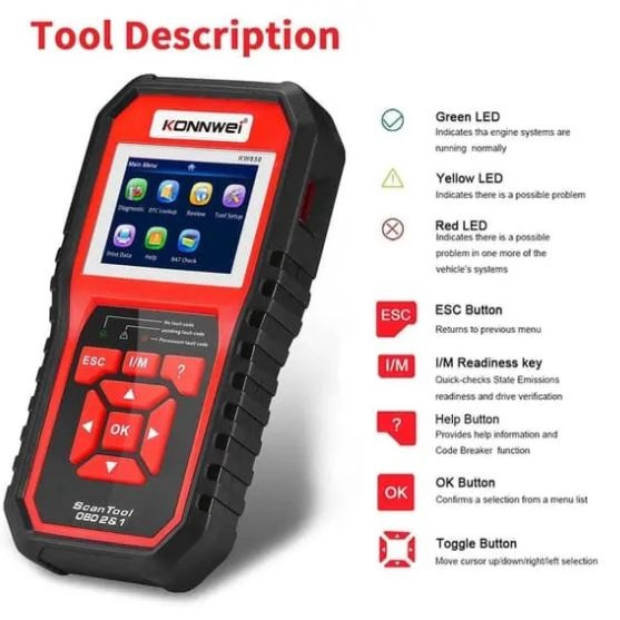 KW850 Professional OBD2 Scanner Tool