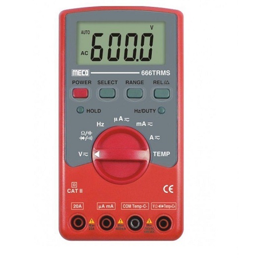666-TRMS Digital Multimeter (AC Voltage Range 600mV to 750V)