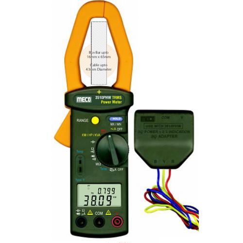 3510 PHW-Auto Digital Power Clamp Meter True RMS 999.9 A 600 V