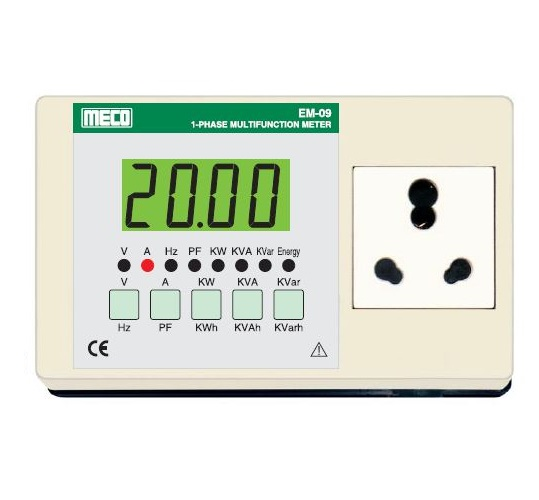 E-09 Multifunction Appliance Meter - TRMS- 20A AC