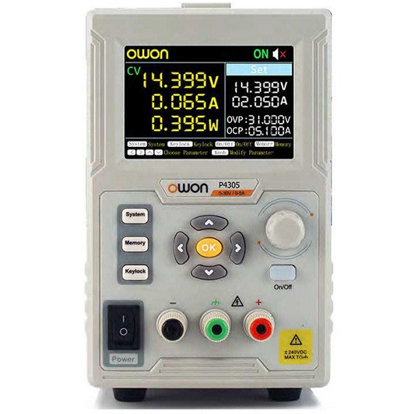 P4305 Programmable Lab DC Power Supply- 30V 5A