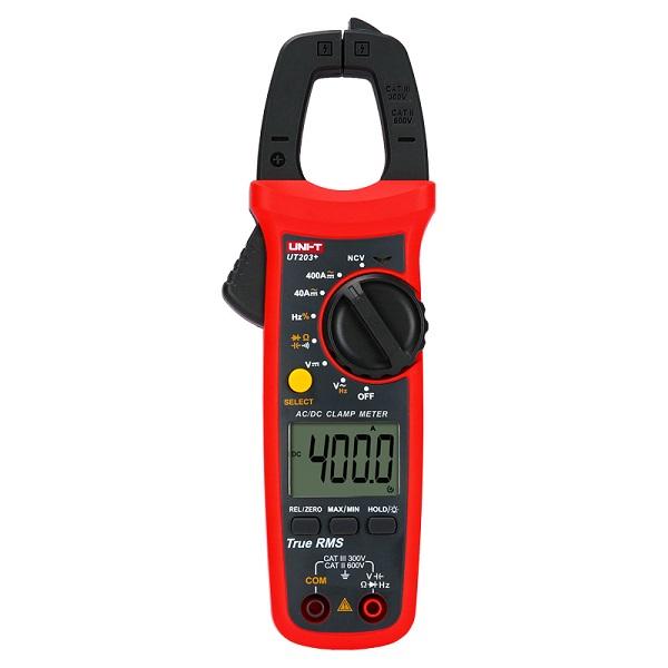 UT203+ Digital Clamp Meter 400A AC/DC True- Rms