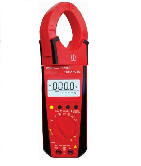 Rish 1000A AC/DC Power Clamp Meter 3 Phase with inrush measurement